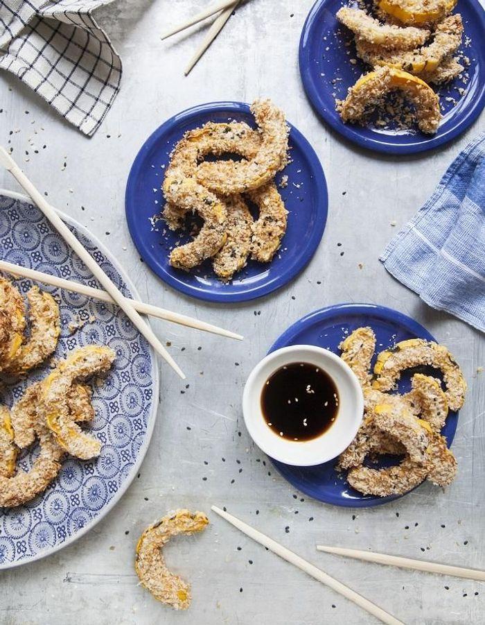 Frites de courge delicata, sauce teriyaki