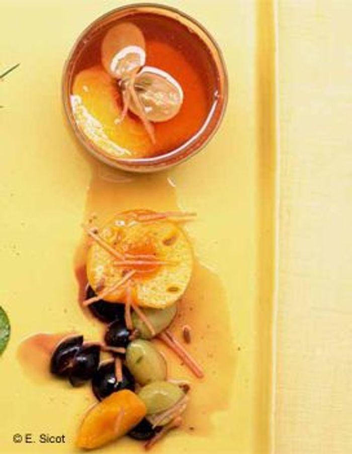 Fruits au sirop de gingembre