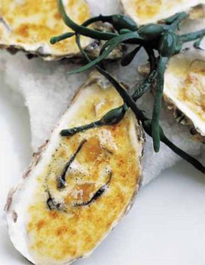 Huîtres chaudes au citron confit