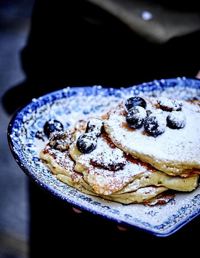 Kickass pancakes aux myrtilles