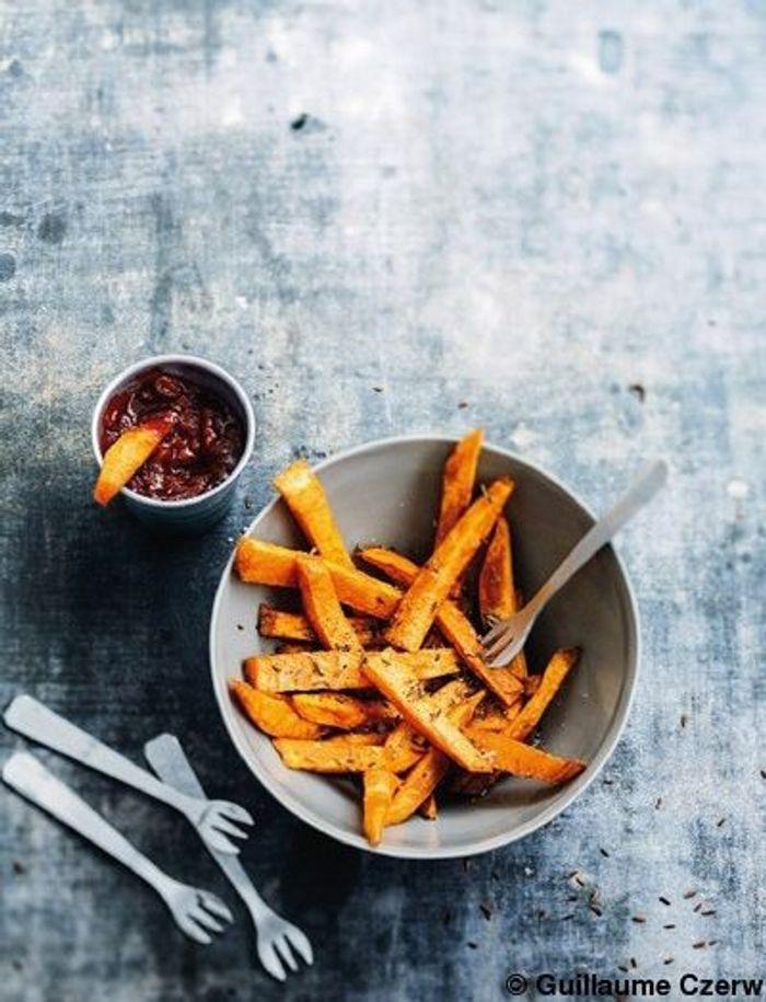 Les frites de patates douces  au cumin