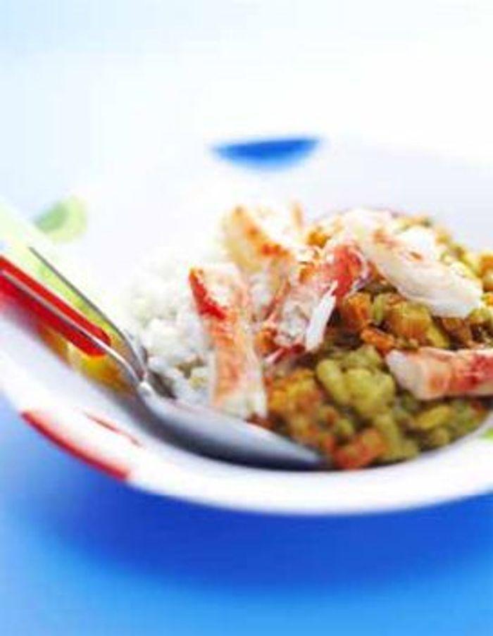 Macédoine crabe-curry