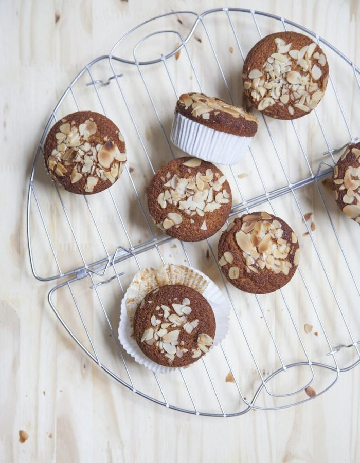 Muffins aux amandes et au miel