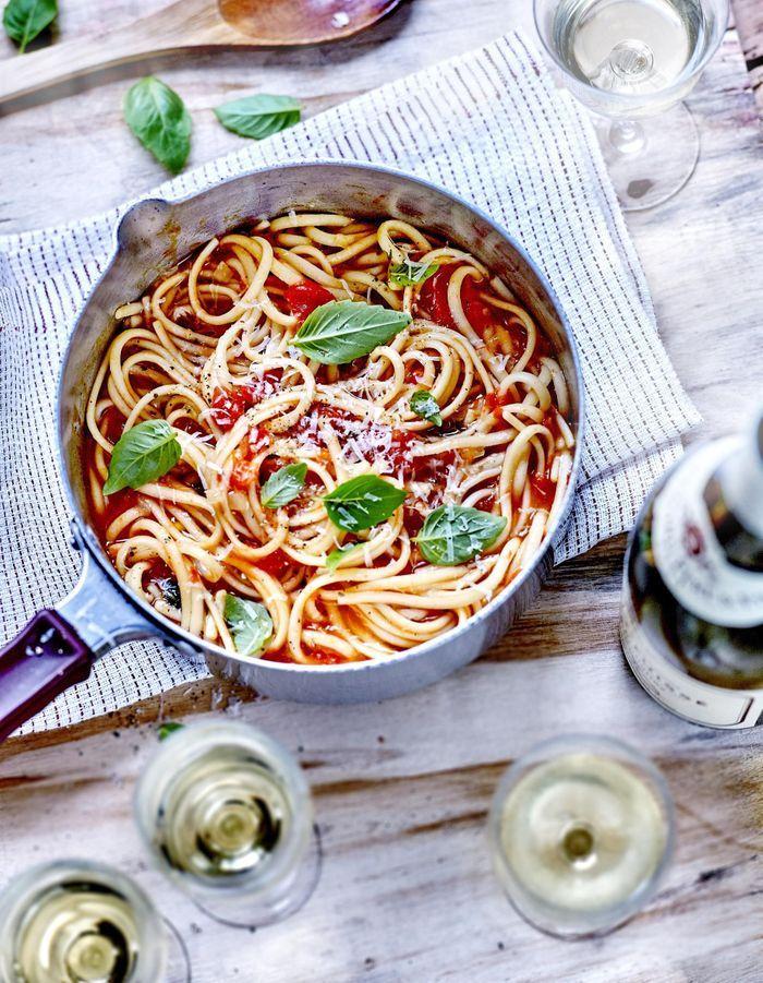 Pâtes aux tomates « cuites dans leur jus »