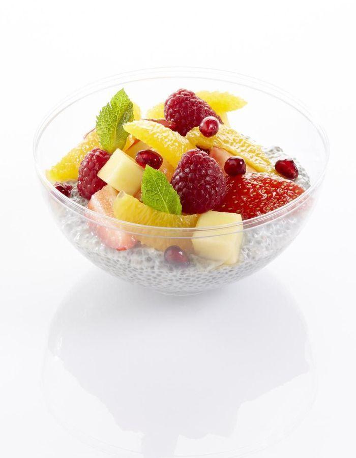 Pudding aux graines de chia aux fruits