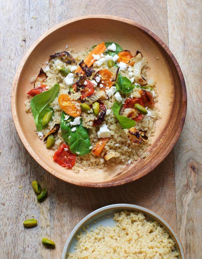 Quinoa aux légumes et pistaches