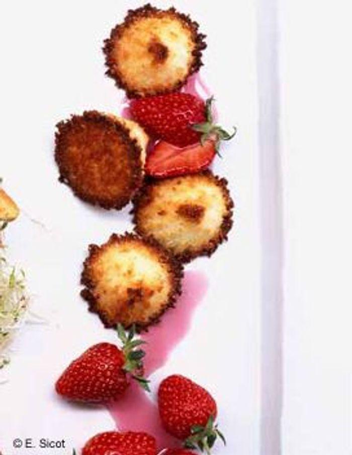 Rochers et fraises à la grenadine