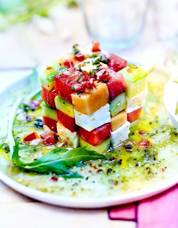 Rubik's cube pastèque melon avocat