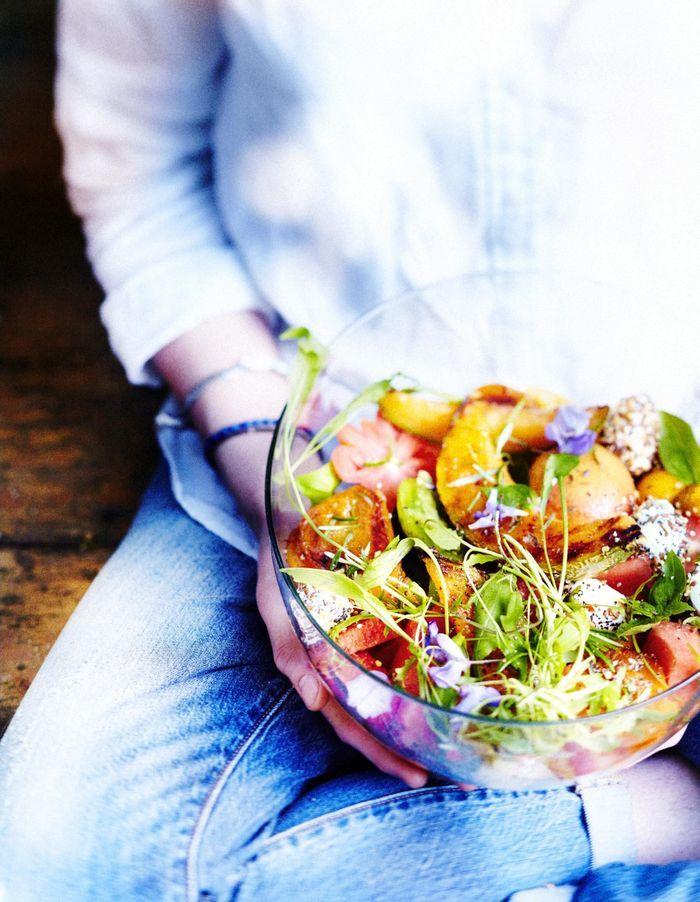 Salade crétoise aux tomates