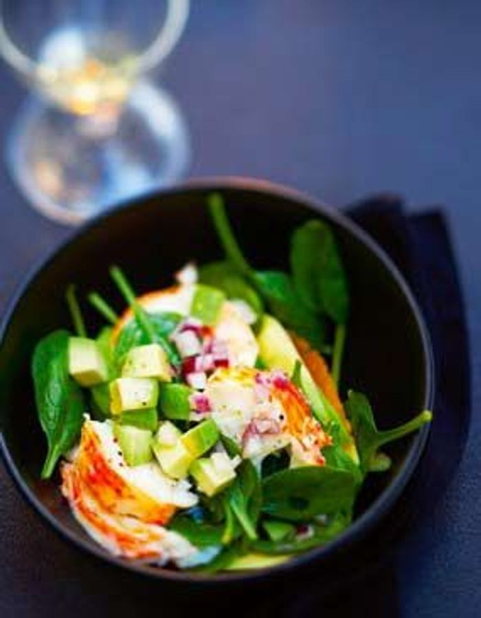 Salade de langouste tiède