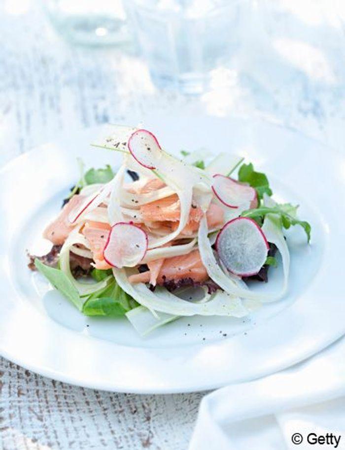 Salade tiède de pois gourmands