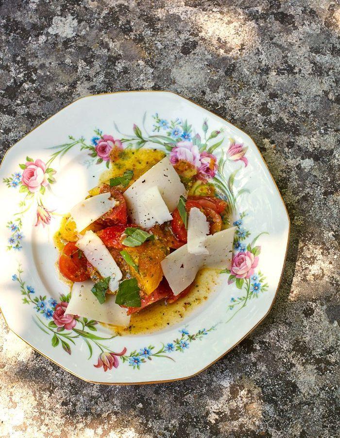 Salade tomates-chèvre