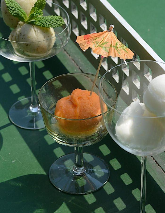 Sorbet orange, carotte et gingembre
