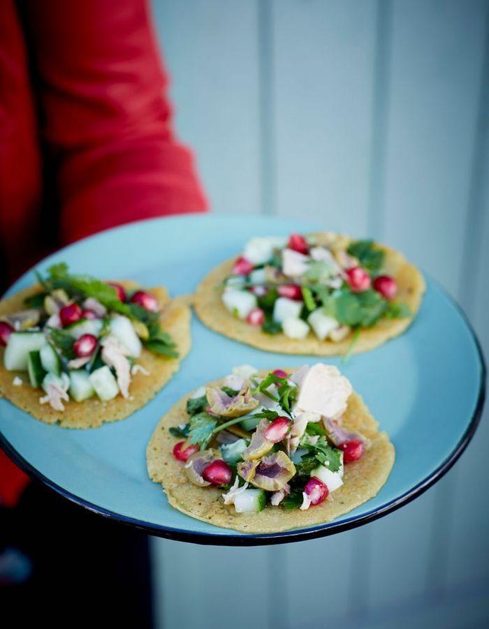 Tacos façon socca au thon et fines herbes