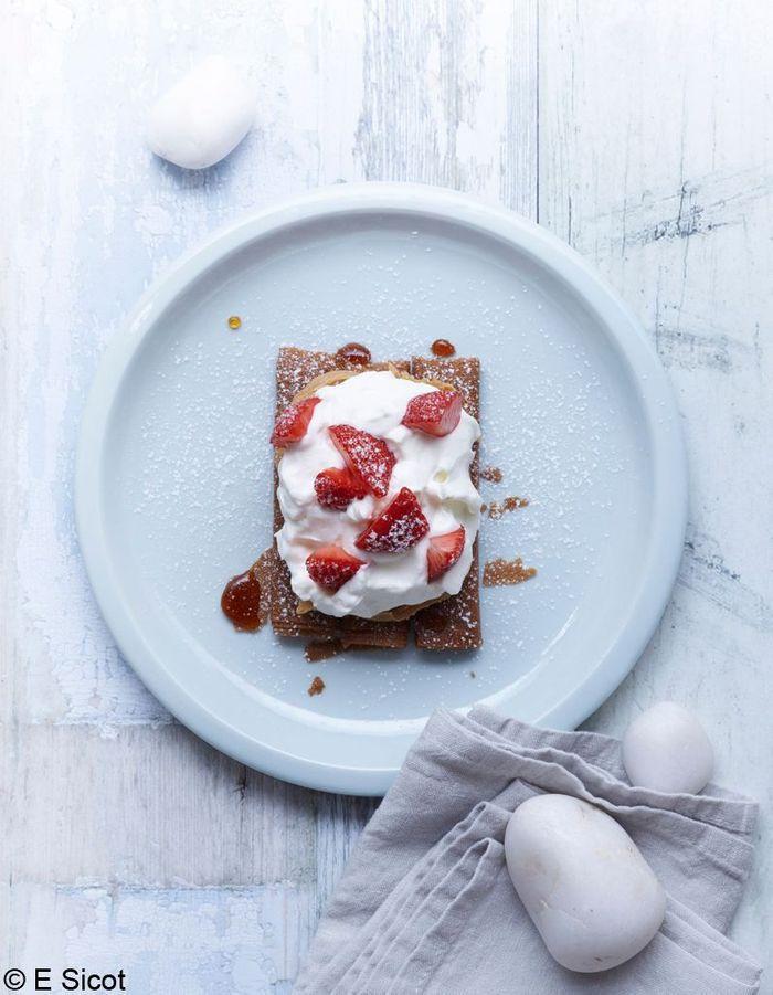 Tarte aux fraises bretonne