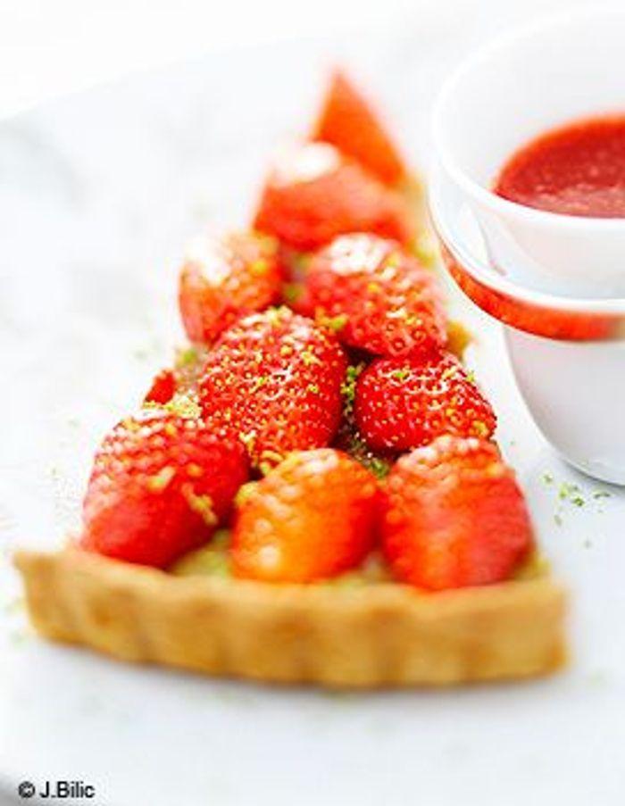 Tarte fraises-rhubarbe