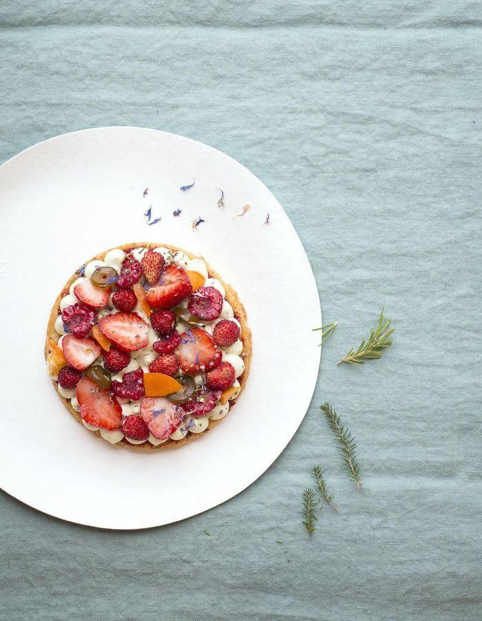 Tartelette fine du maquis aux fruits rouges