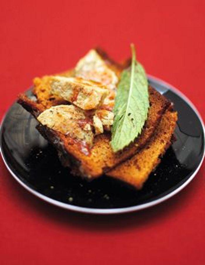 Toasts de pain d'épices au foie gras