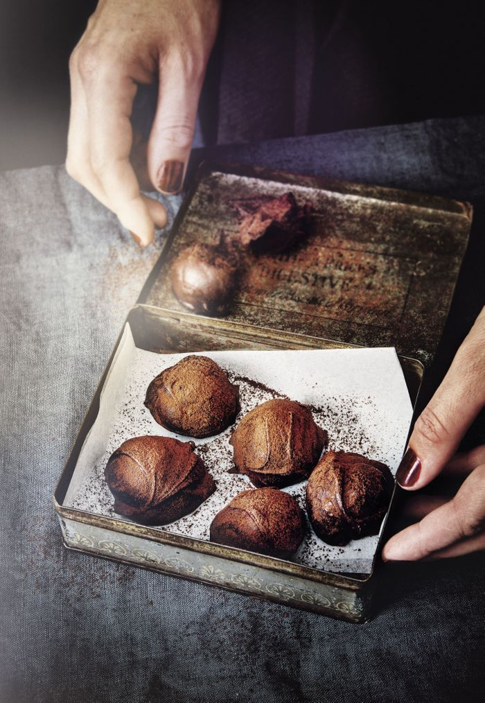 Truffes au chocolat et caramel au beurre salé