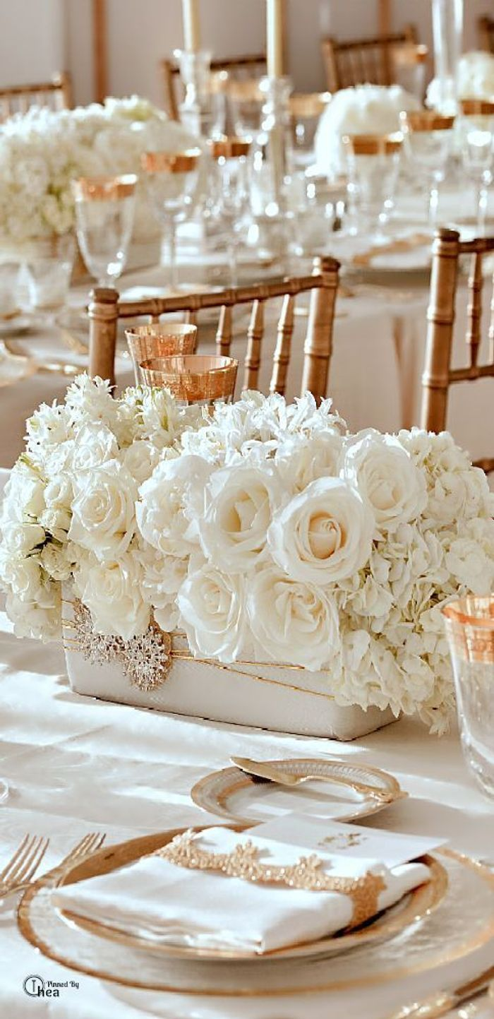 decoration mariage blanc