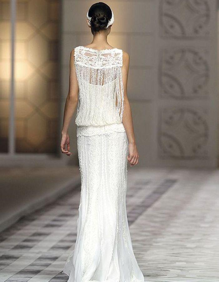 Robe de mariée de princesse brodée