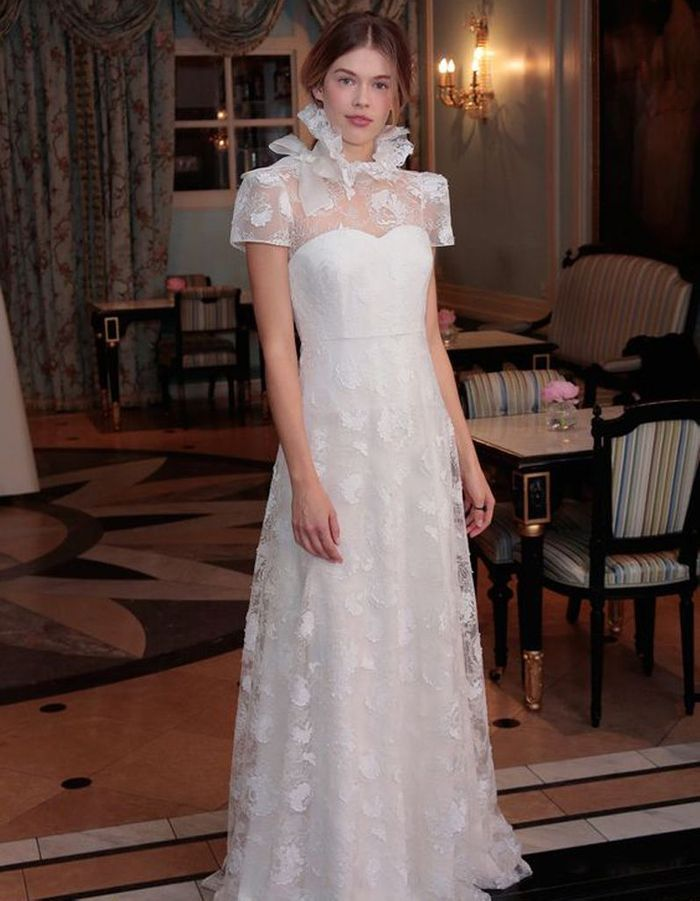 Robe de mariée de princesse col haut