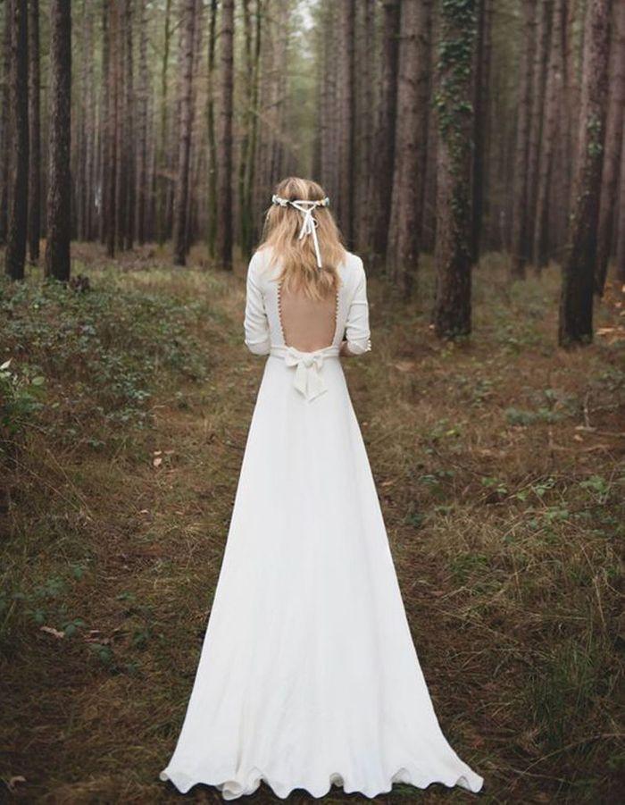 Robe de mariée de princesse dos nu