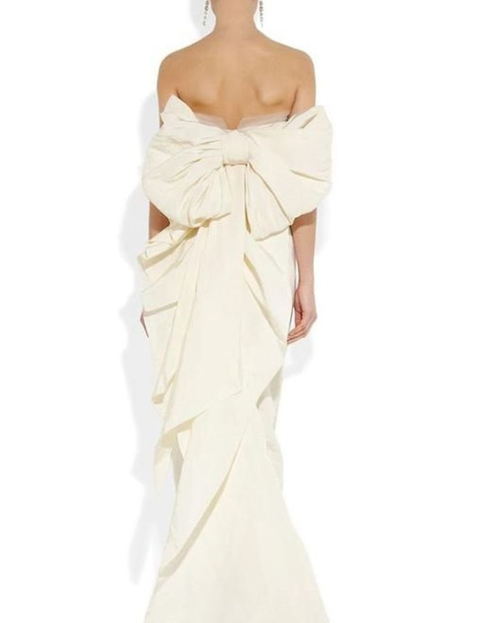 Robe de mariée de princesse gros noeud