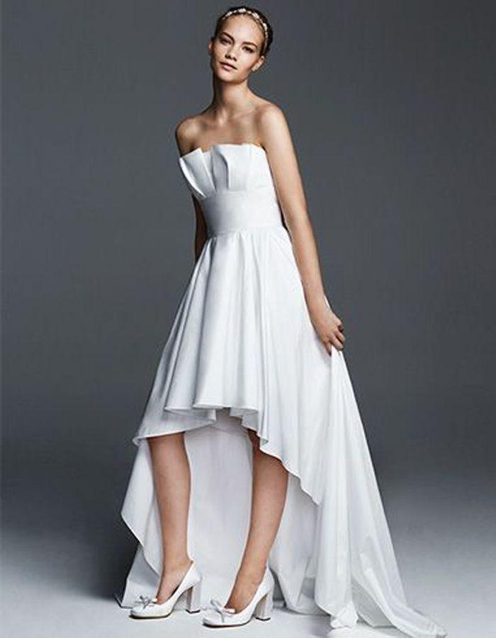 Robe de mariée de princesse plissée