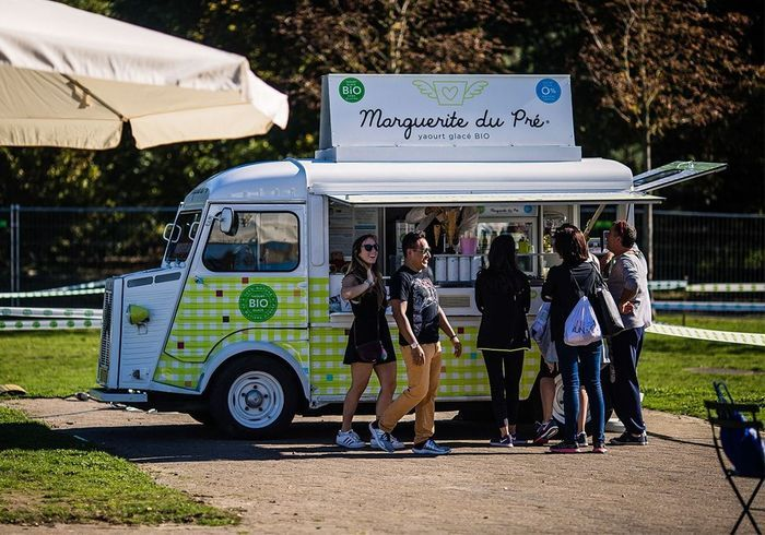 Dégustation de yaourts glacés bio Marguerite du Pré