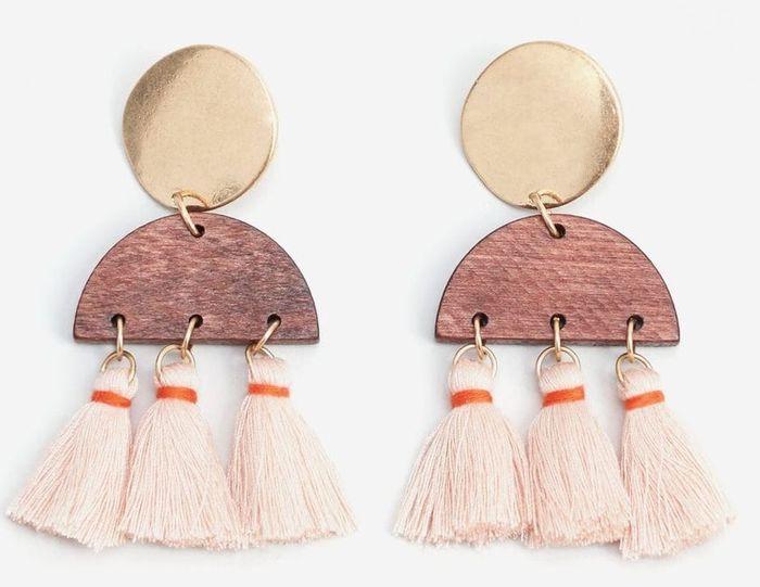 Boucles d'oreilles pompon Mango