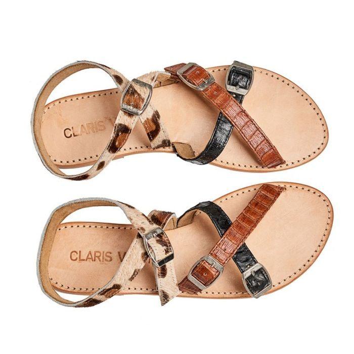 Sandales soldées Claris Virot