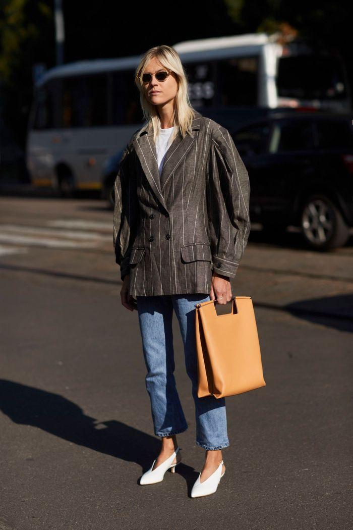 Le jean vintage avec un blazer