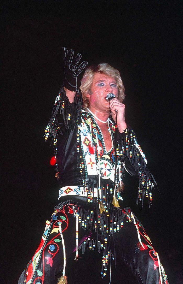 Johnny Hallyday en 1987