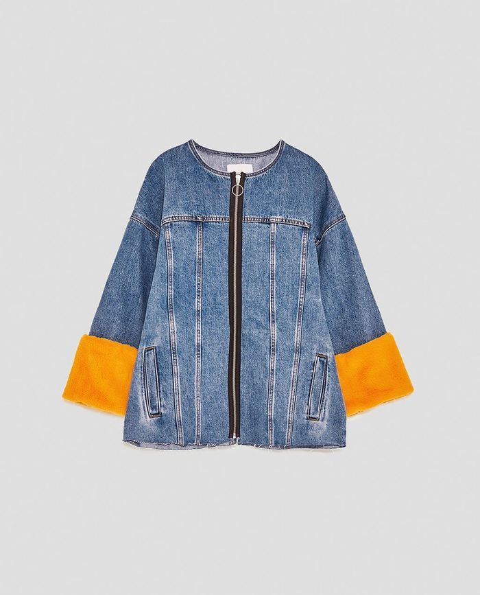 Blouson en jean bicolore Zara