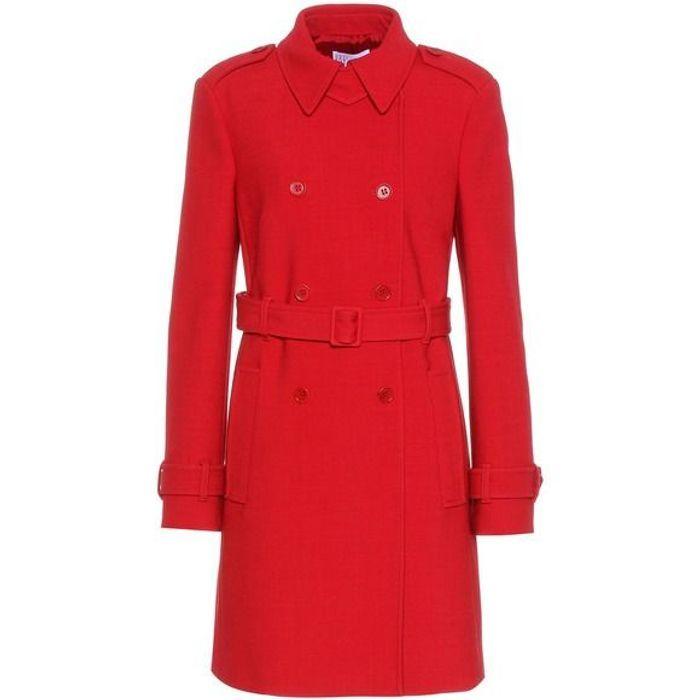 Manteau rouge ceinturé Red Valentino