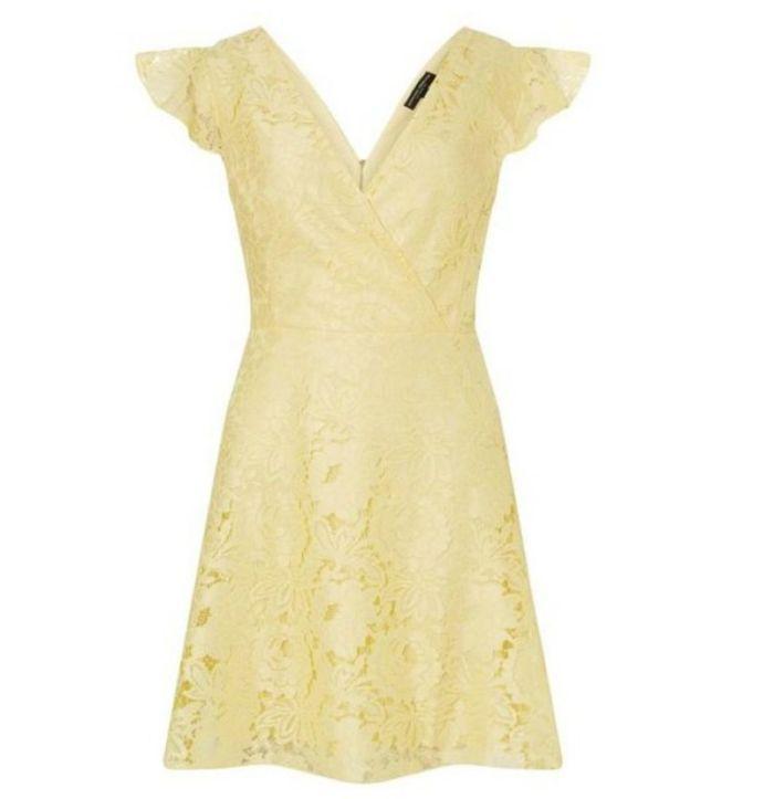 Robe jaune Dorothy Perkins