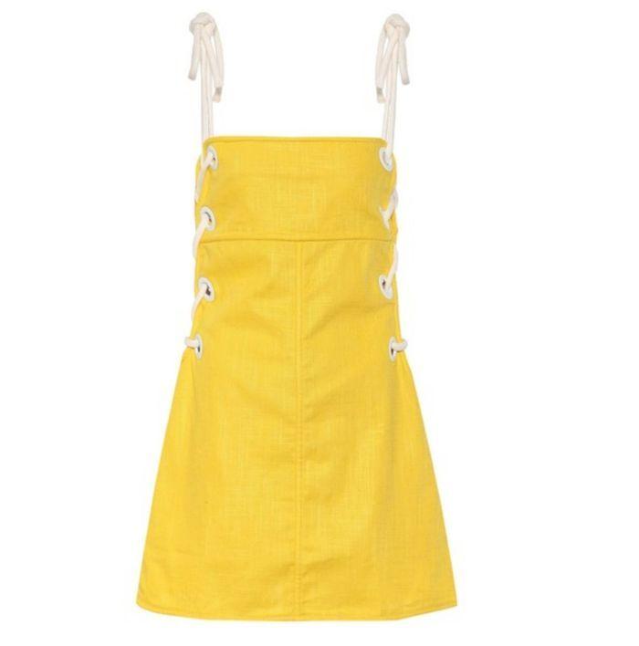 Robe jaune Staud
