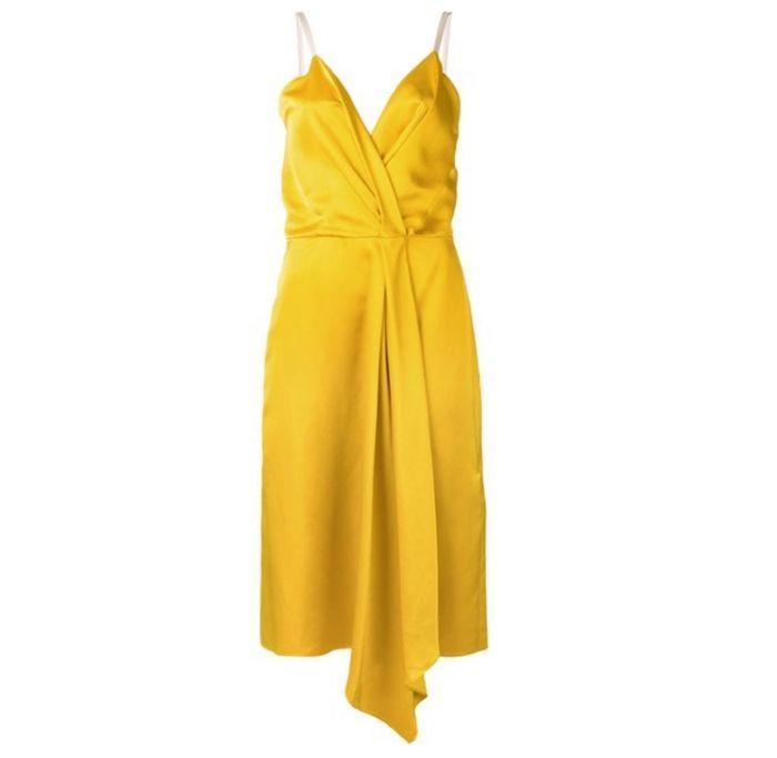 Robe jaune Victoria Beckham