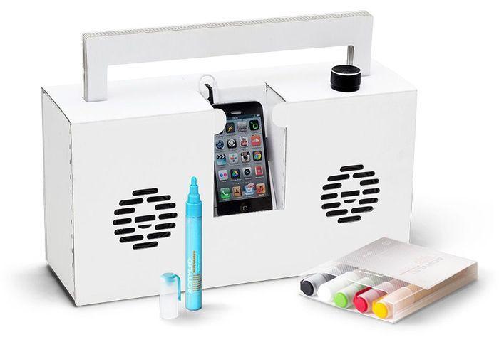 Haut-parleur à colorier pour smartphone
