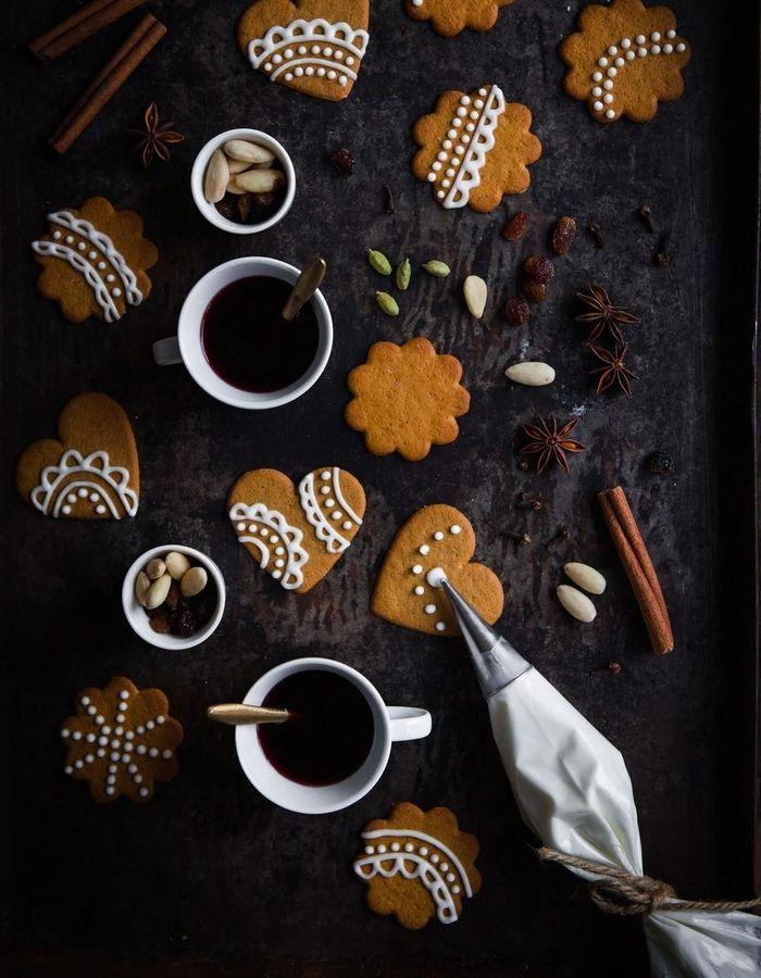 Biscuits pain d'épices décorés