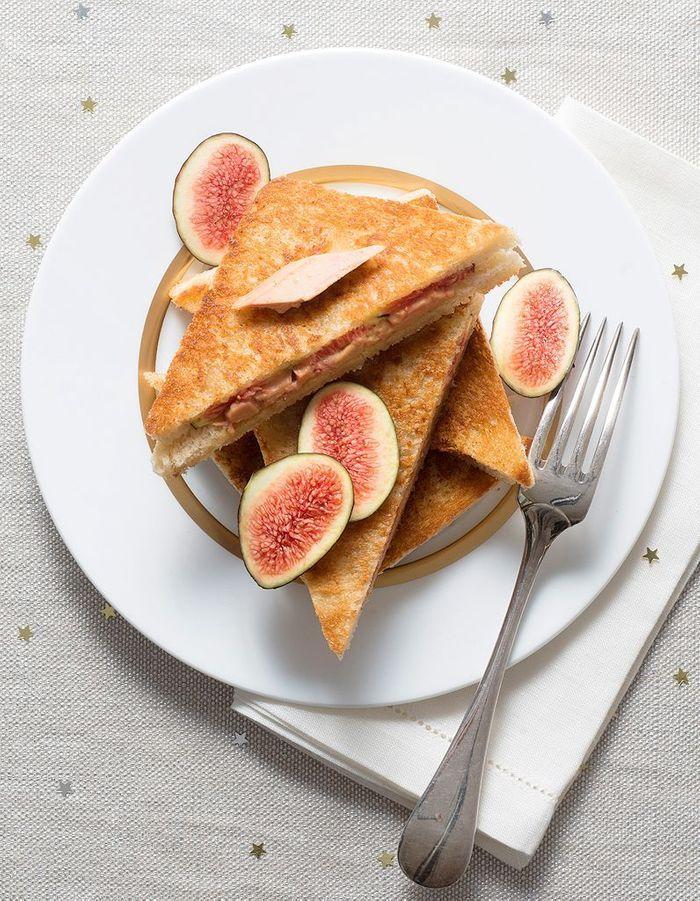 Croques foie gras aux figues