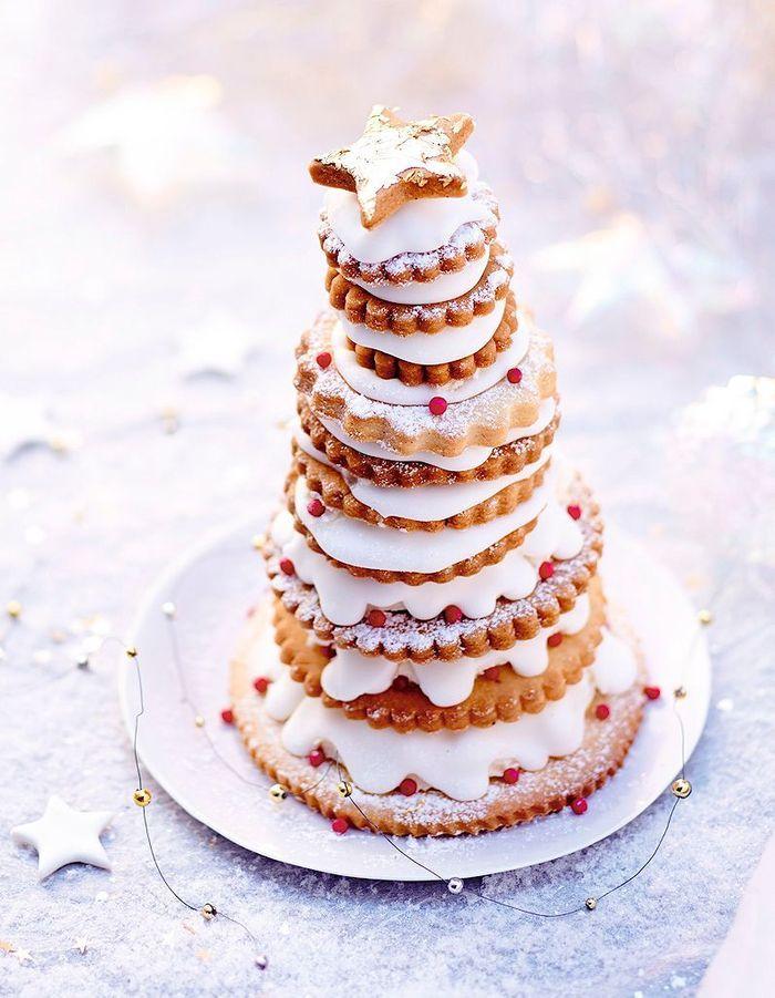 Pyramide de biscuits à la crème