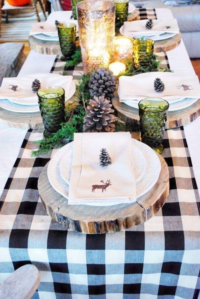 Une table de fête champêtre
