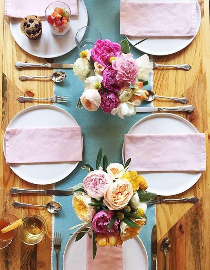 Une table de fête féminine