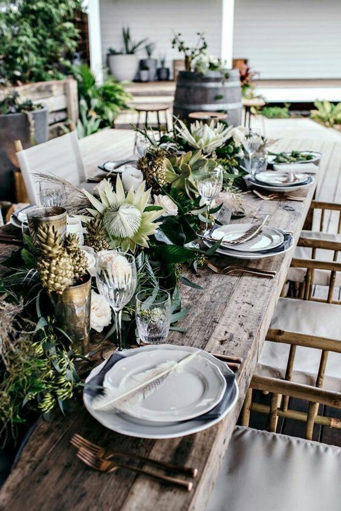Une table de fête nature
