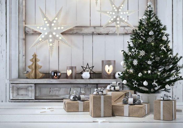 Arbre de Noël argenté