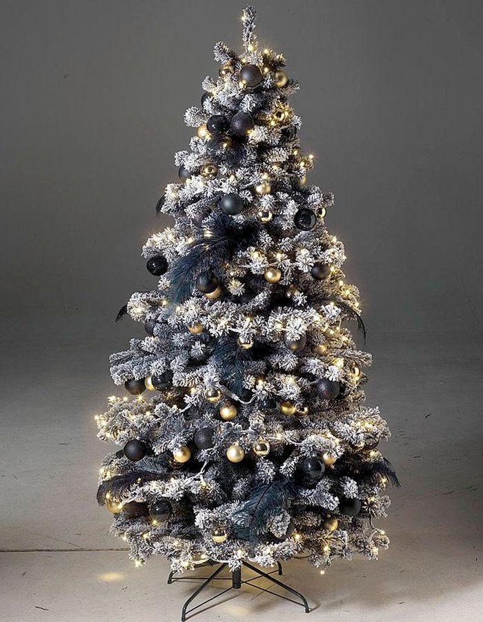 Faux sapin de Noël argenté