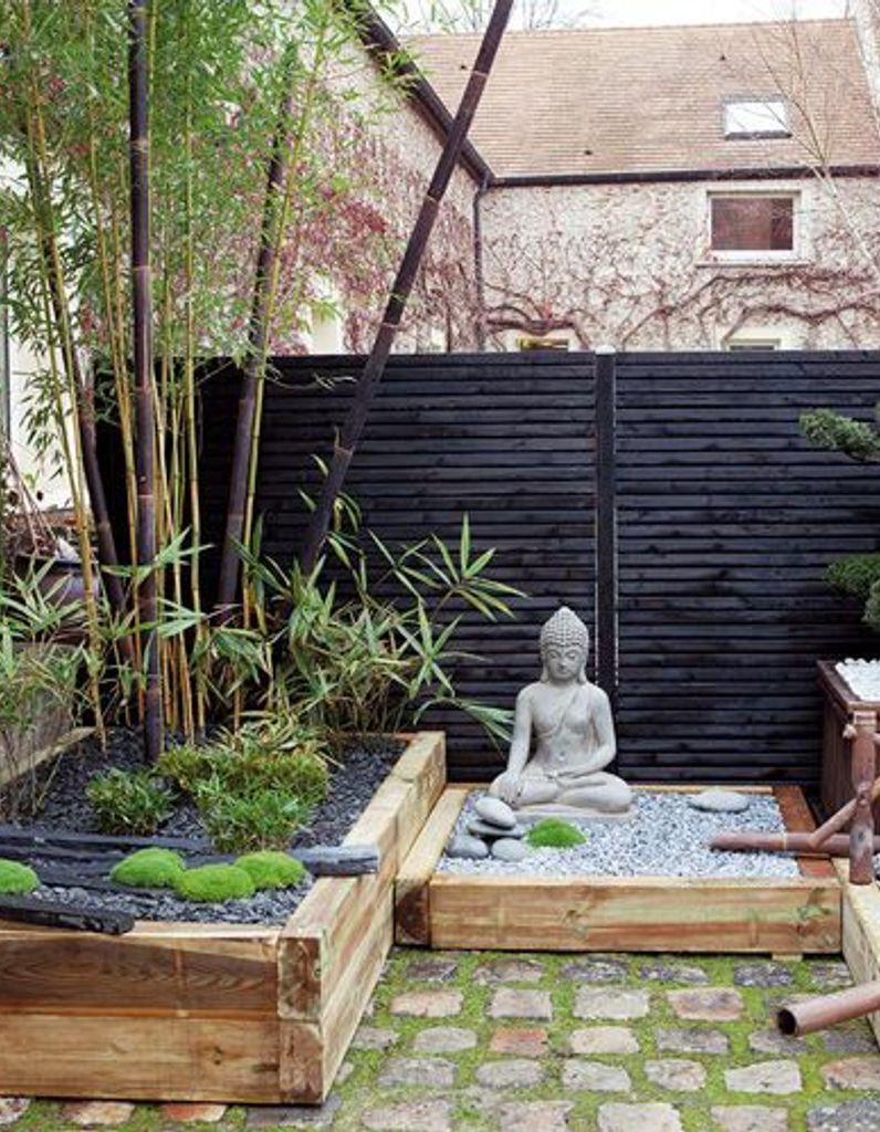 Photo Jardin Zen Chez Particulier un jardin zen en rouge et noir - elle décoration