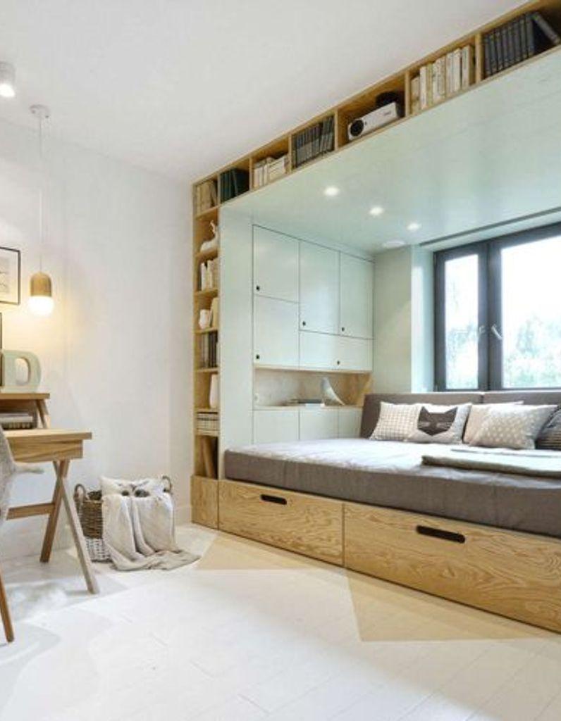Aménagement Mezzanine Petit Espace lit intégré : gain de place, 5 lits qui s'intègrent